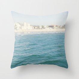 Santa Monica Beach II Throw Pillow