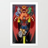 dungeons and dragons Art Prints featuring Escalating Evil in the Realm of Dungeons and Dragons by Tom Krohne