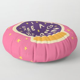 I see a strong woman Floor Pillow