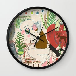 Botanists party Wall Clock
