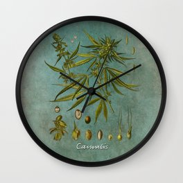 Cannabis #cannabis Wall Clock