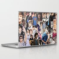 liam payne Laptop & iPad Skins featuring Liam Payne - Collage by Pepe the frog