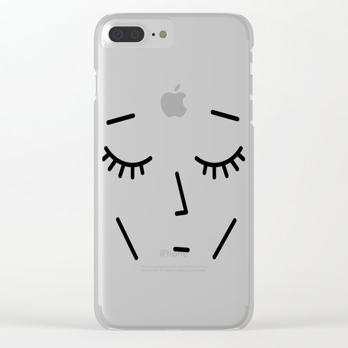 Face Sleep Clear iPhone Case