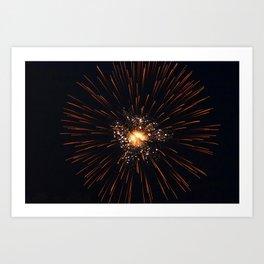 Marina Fireworks 2018 view 1 Art Print