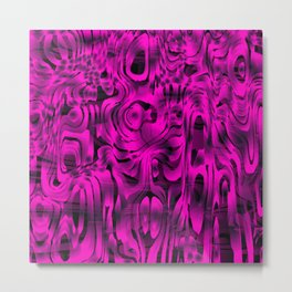 Bright smudges of magical infinity from pink lines and dark hypnotic fixation. Metal Print