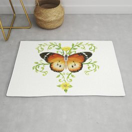 African Monarch butterfly Rug