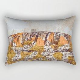 Uluru Ayers Rock Australia grunge art creative art painted Uluru drawing Uluru grunge digital art Rectangular Pillow