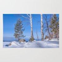 russia Area & Throw Rugs featuring Winter in Russia by Svetlana Korneliuk