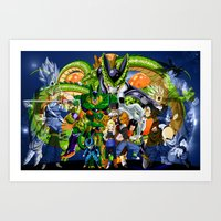 dbz Art Prints featuring DBZ - Cell Saga by Mr. Stonebanks