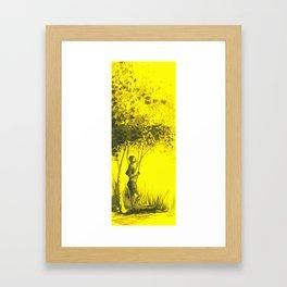 Boy under the tree Framed Art Print