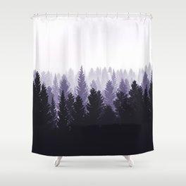 Forest Foggy Mood Shower Curtain