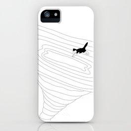 Cat jump in the tornado iPhone Case