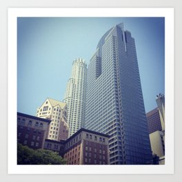 Downtown Los Angeles (View from Pershing Square) Art Print