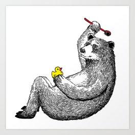 Bear Shower Curtain Art Print