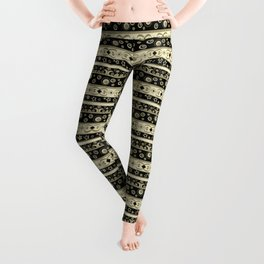 Abstraction. Striped ornament. Leggings