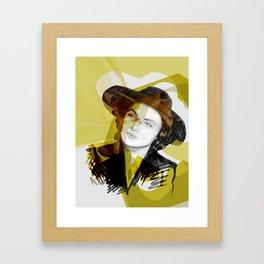 Ingrid Bergman Gold Framed Art Print