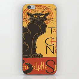 Tournee du Chat Noir De Rodolphe Salis Vector iPhone Skin