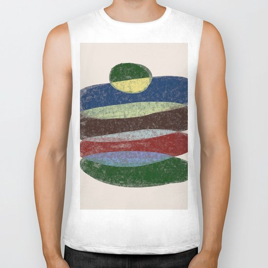 Stay On Top - Abstract, textured, pastel layers Biker Tank