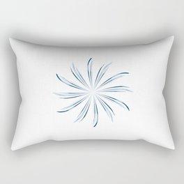 Steel Blue Star Rectangular Pillow