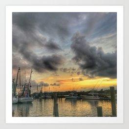 Creekside Sunset Art Print