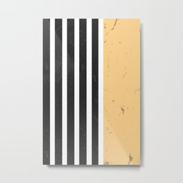LIGHT CORN STRIPES Metal Print