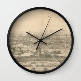 Vintage Pictorial Map of London England (1750) Wall Clock