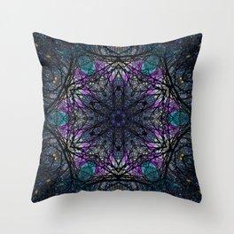 space mandala bv Throw Pillow