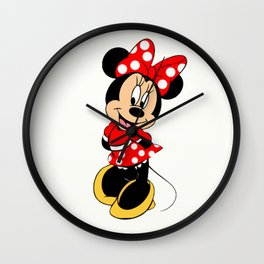 Cute Minnie Mouse Wall Clock