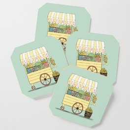 Veggie Cart on Mint Coaster
