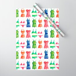 Evolution of the swimsuit pattern Wrapping Paper