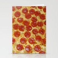 pizza Stationery Cards featuring Pizza by Dani Mininancy