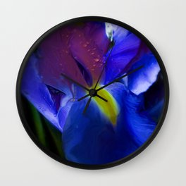 Blue Iris Wall Clock