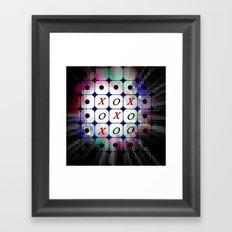TIC TAC TOE. Framed Art Print