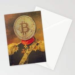 "Bit Coin Fanatic General | ""So Let Me Tell You About My Coin Base"" Stationery Cards"