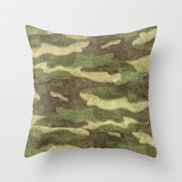 Dirty Camo with a twist Throw Pillow