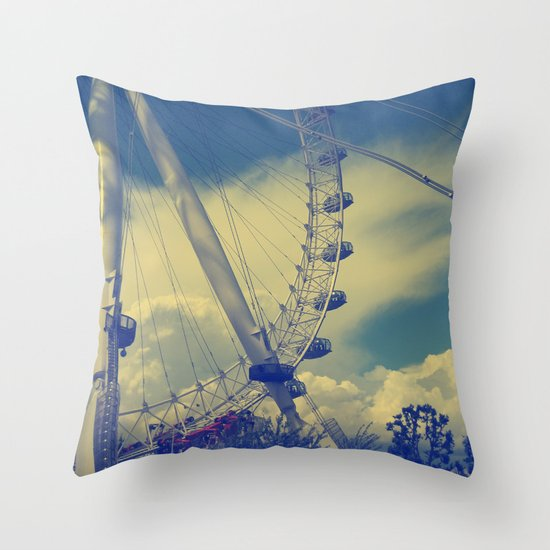 London Eye III Throw Pillow