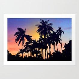 palm tree Kunstdrucke