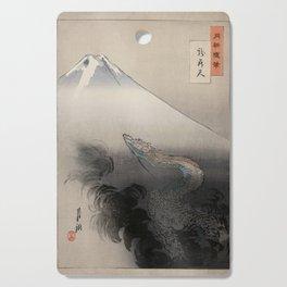 Dragon Rising to the Heavens at Mount Fuji Ogata Gekko Cutting Board