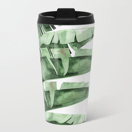 Banana Green Metal Travel Mug