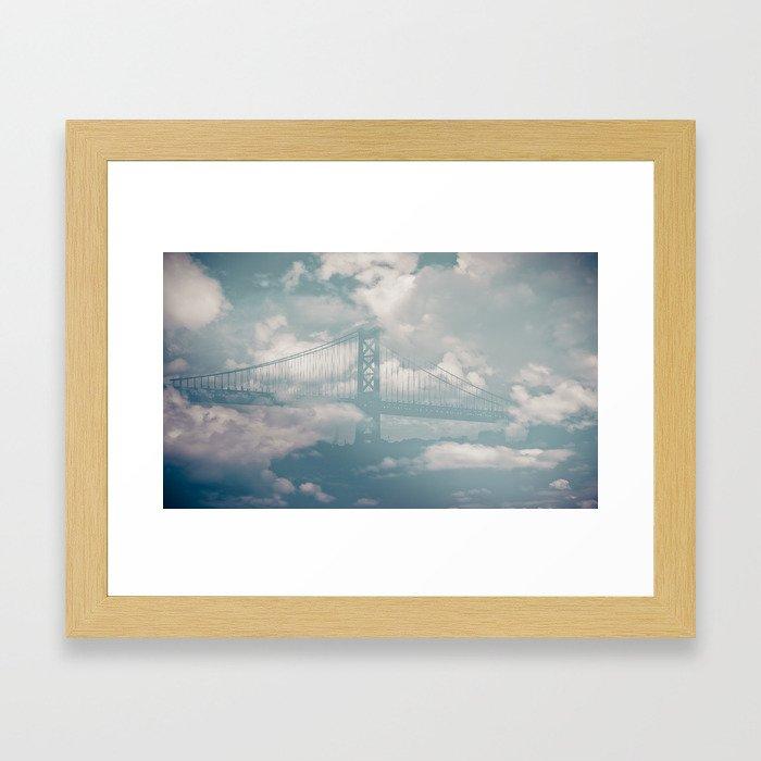 cloud transport Framed Art Print