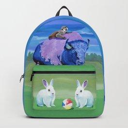 Beach Ball Bison Backpack