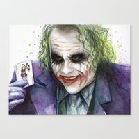 joker Canvas Prints featuring Joker  by Olechka