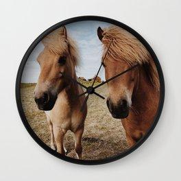 Icelandic Horse #2 Wall Clock