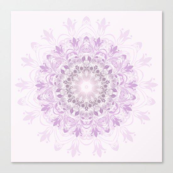 Purple Floral Mandala Canvas Print