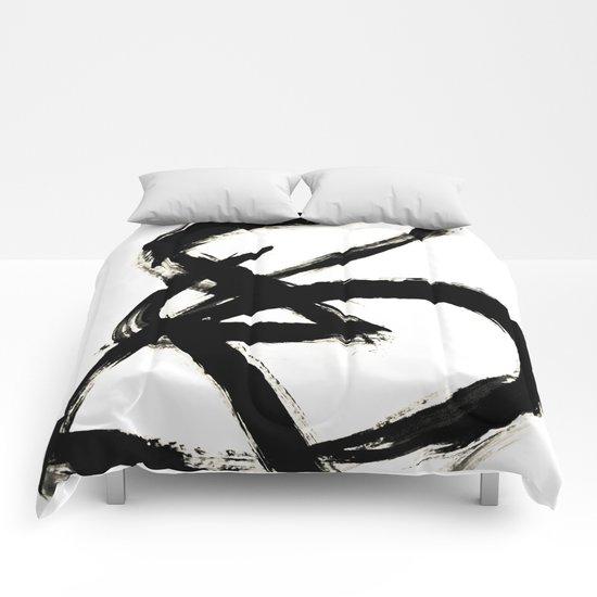 Brushstroke 3 - a simple black and white ink design by blushingbrushstudio