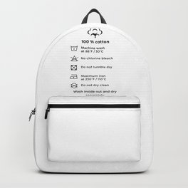 100% Cotton | Laundry Label Backpack