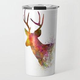 Male Deer 02 in watercolor Travel Mug