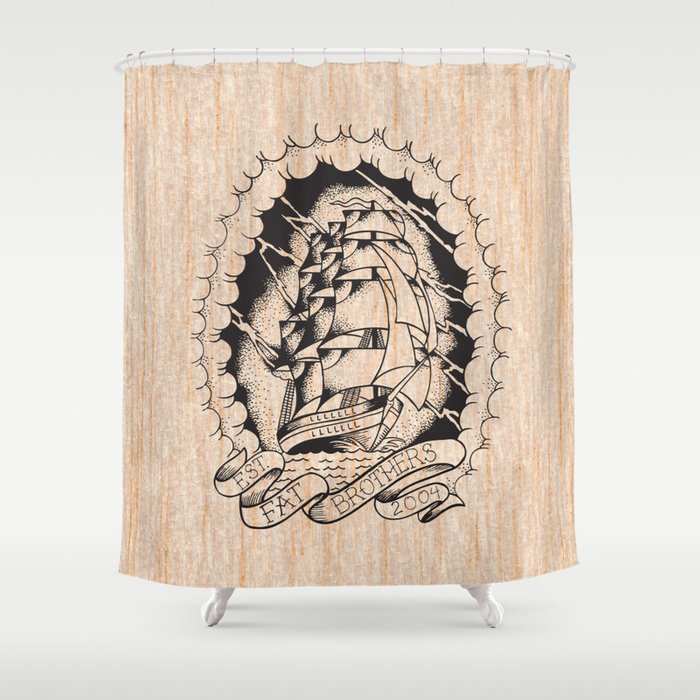 Fat Ship Shower Curtain by fatbrothers | Society6