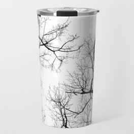 Black and white tree top silhouettes... Travel Mug