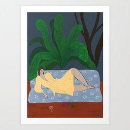A Tropical Night Art Print